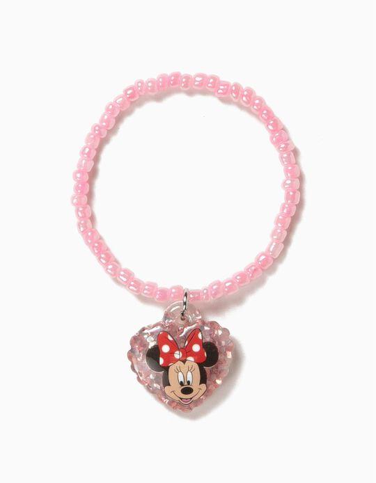 Pulseira de Missangas para Menina 'Minnie', Rosa
