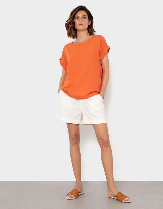 Cotton & Linen Shorts, for Women