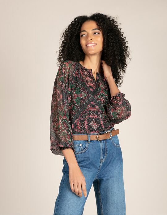 Sheer Blouse, Paisley