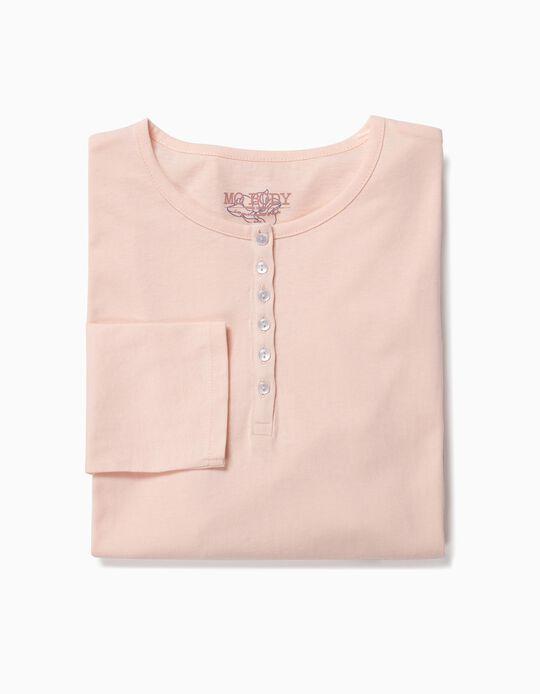 T-shirt algodão botões