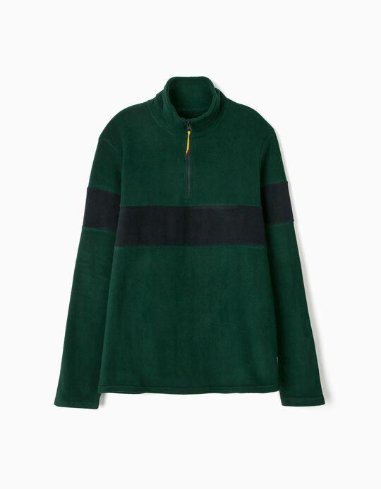 Sweatshirt with zipped collar