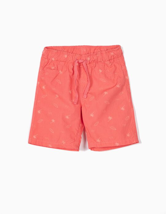 Shorts with Tropical Print