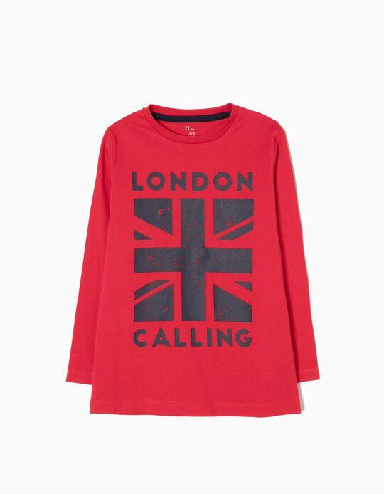 T-shirt Manga Comprida London Calling