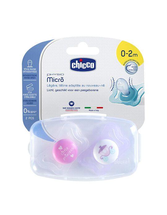 Chupeta Physio Micro 0-2M+ Chicco 2Un.