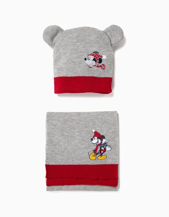 Conjunto Cachecol e Gorro Mickey