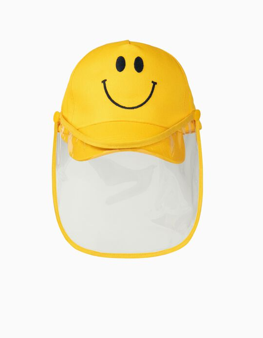 Boné com Protetor 'Smile', Amarelo