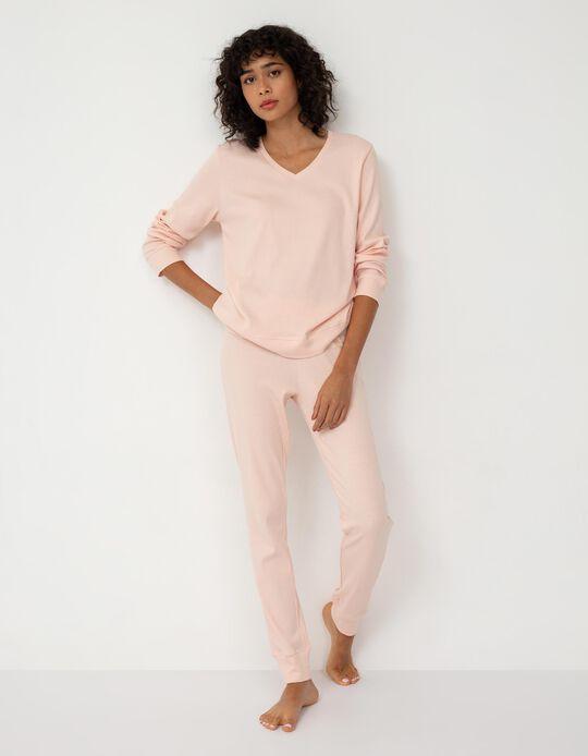 Pyjama Leggings, Women, Pink