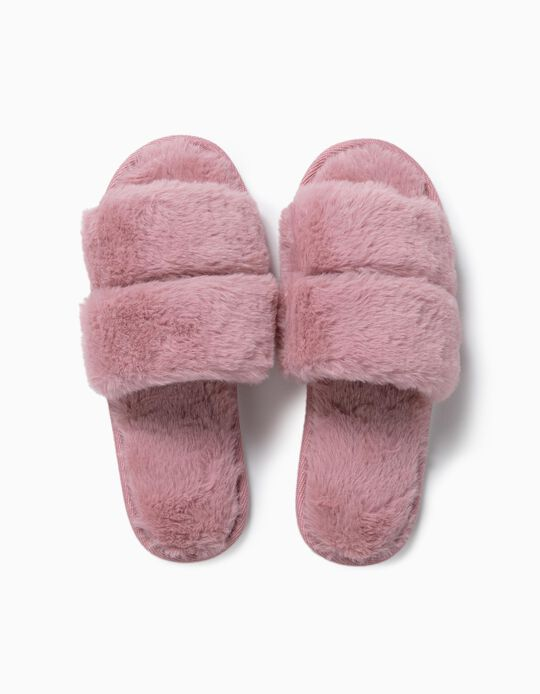 Bedroom Slippers, Fur Effect