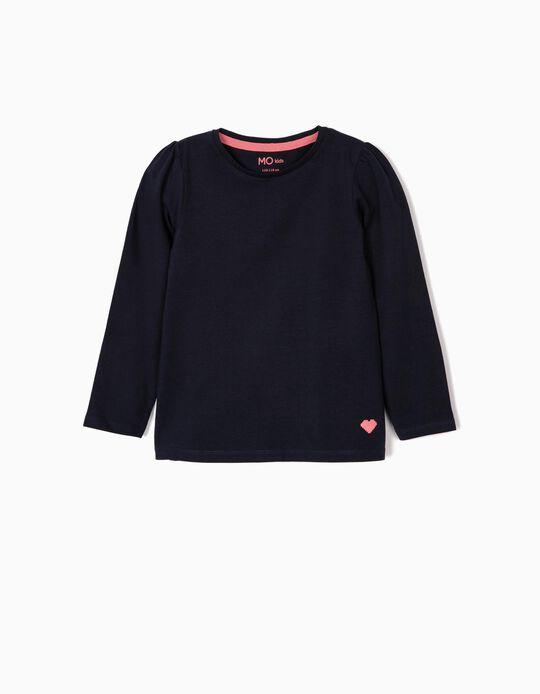 T-shirt de manga comprida coração