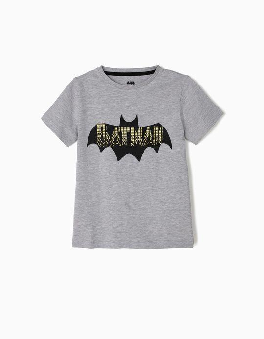 T-shirt para Menino 'Batman', Cinza