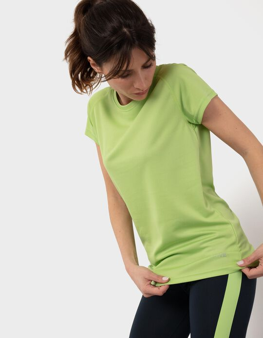 Textured T-shirt in Mesh, for Women
