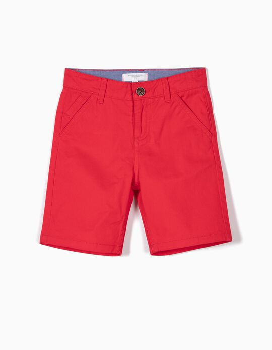 Chino Shorts for Boys 'B&S', Red