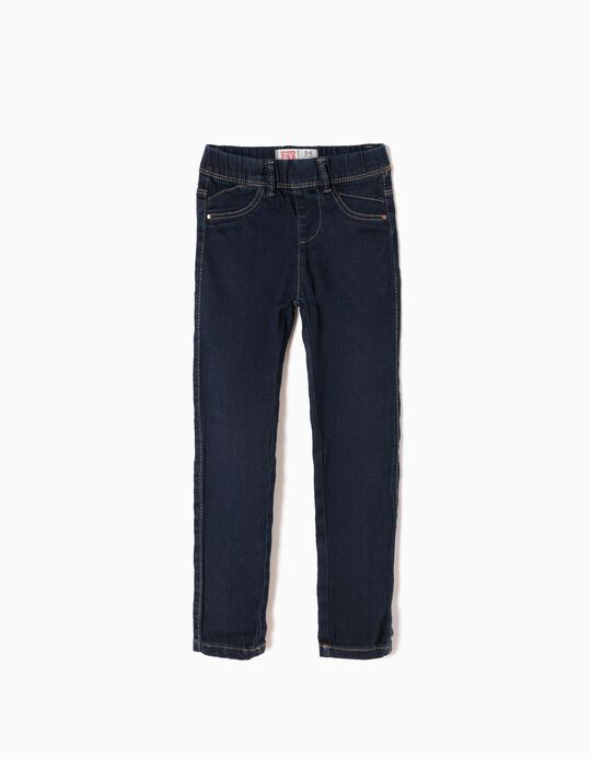 Denim Jeggings for Girls, Dark Blue