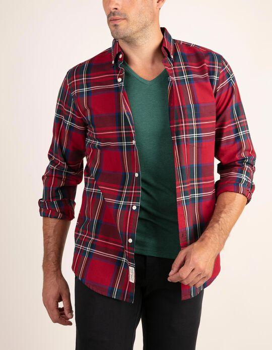 Camisa regular fit com tartan