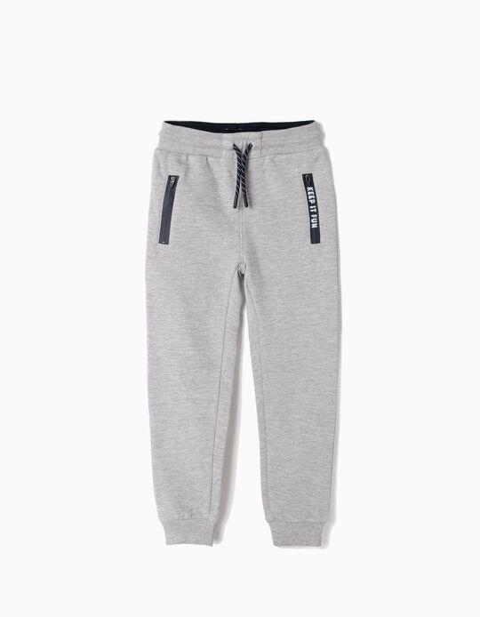 Joggers for Boys 'Keep it Fun', Grey