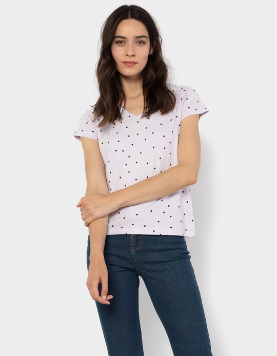 Dotted T-shirt, Lilac