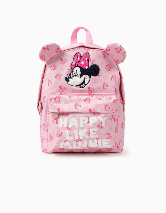 Backpack for Girls 'Happy Minnie', Pink