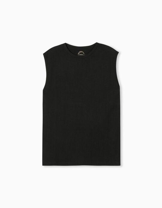 T-shirt Manga Cava, Homem
