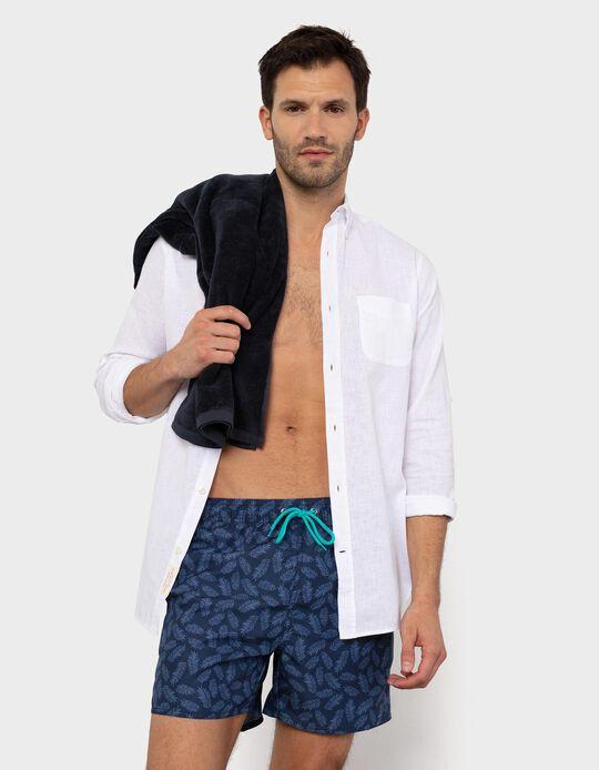 Tropical Pattern Swim Shorts, for Men