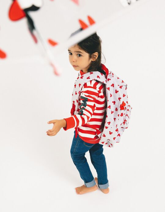 Backpack for Girls 'Minnie', Grey/Red