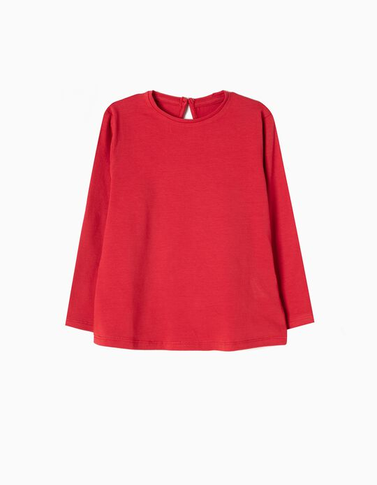 Long-Sleeved Top for Baby Girls, Red