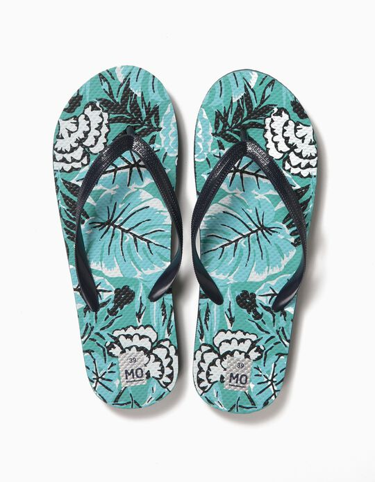 FLIP FLOP PRINTED SI, DARK BLUE14, 39