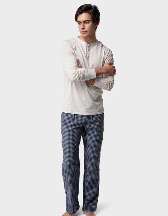 Chequered pyjama bottoms