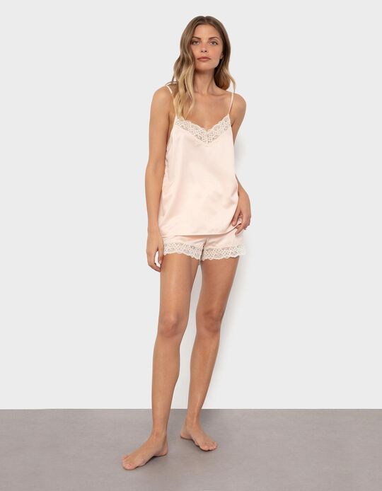 Strappy Pyjama Top with Shorts, for Women