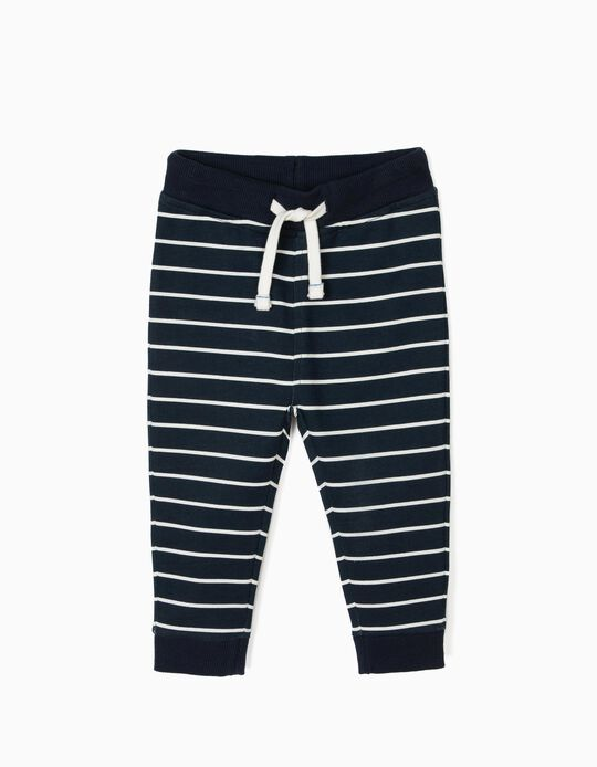 Calças de Treino para Bebé Menino 'Play' Riscas, Azul