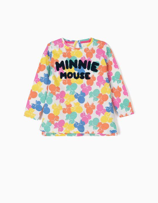 T-shirt de Manga Comprida para Bebé Menina 'Minnie Mouse', Multicolor