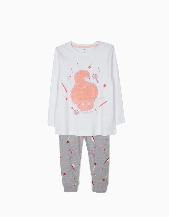 Pijama Manga Comprida e Calças Fluffy Dog