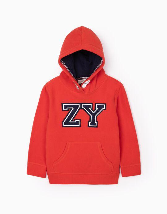 Polar Fleece Sweatshirt for Boys 'ZY', Orange