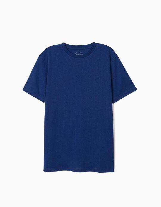 T-shirt de Algodão, Essentials, Homem