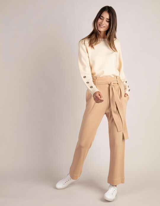 Loose-Fitting Paperbag Trousers