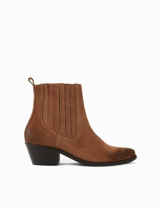 Suede Boots, Made in Portugal, Brown