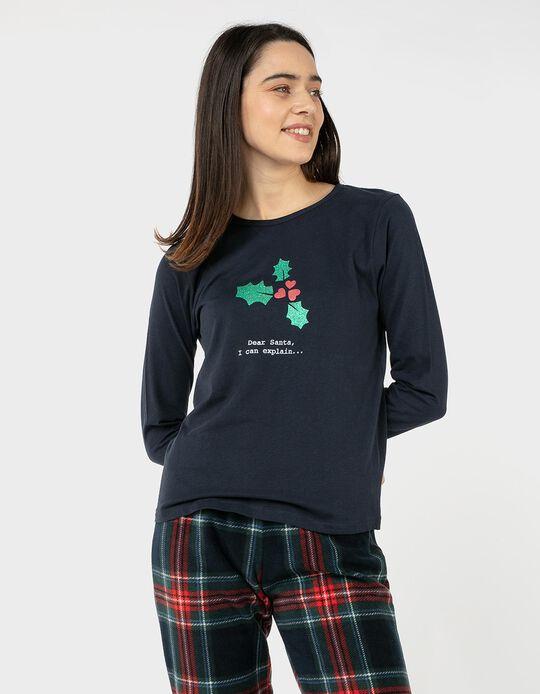 T-shirt de Manga Comprida Natal