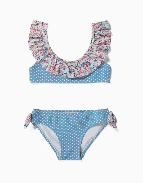 Biquíni para Menina 'Dots & Paisley', Azul
