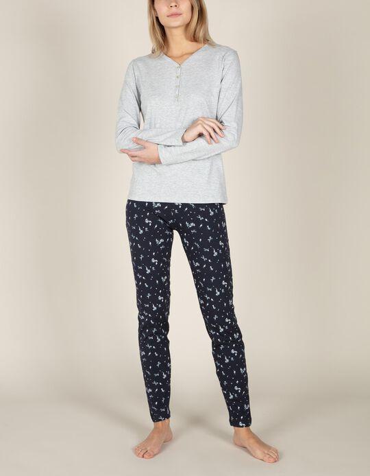 Calças de pijama flores