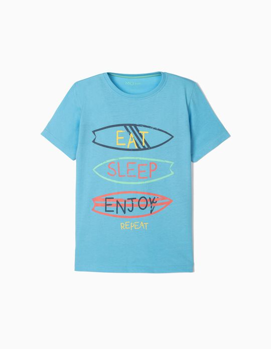 T-shirt for Boys, 'Eat, Sleep, Enjoy'