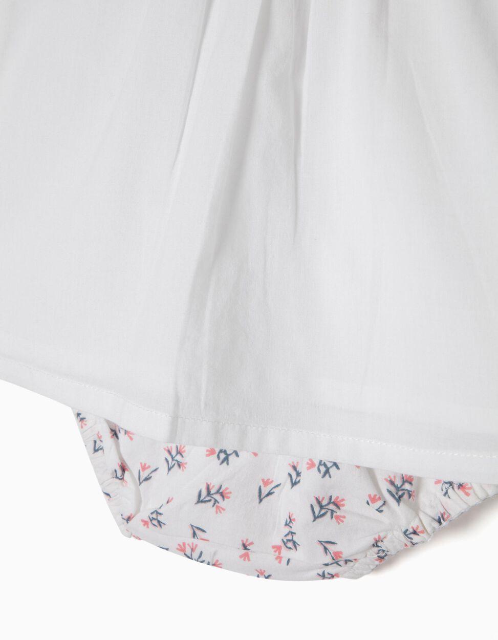 Conjunto Blusa e Tapa-Fraldas Florzinhas