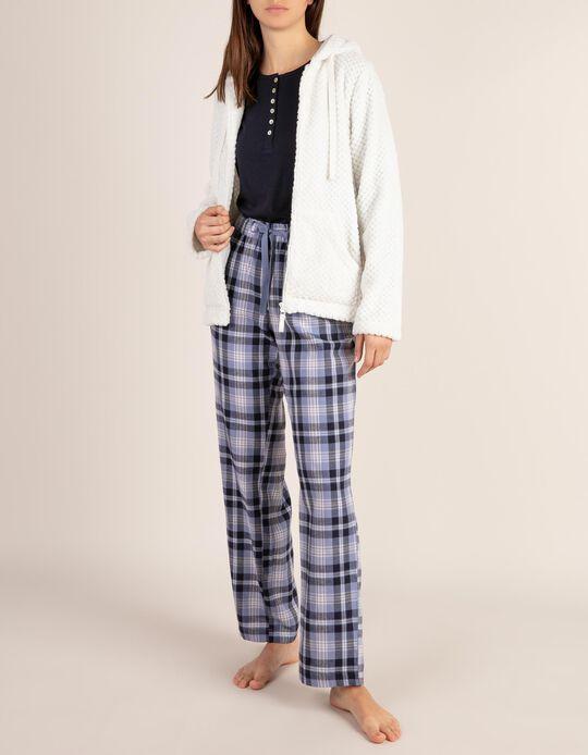 Calças de pijama aos quadrados