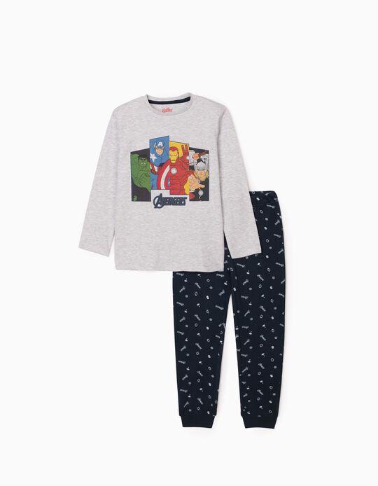 Pijama para Menino 'Avengers', Cinza/Azul Escuro