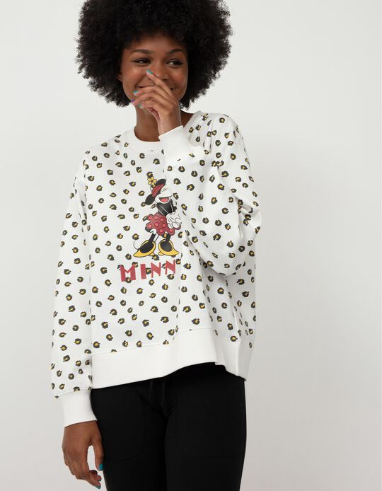 Minnie Mouse Carded Sweatshirt, Women, White