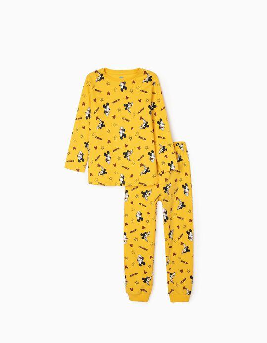 Pijama para Menino 'Mickey Artist', Amarelo