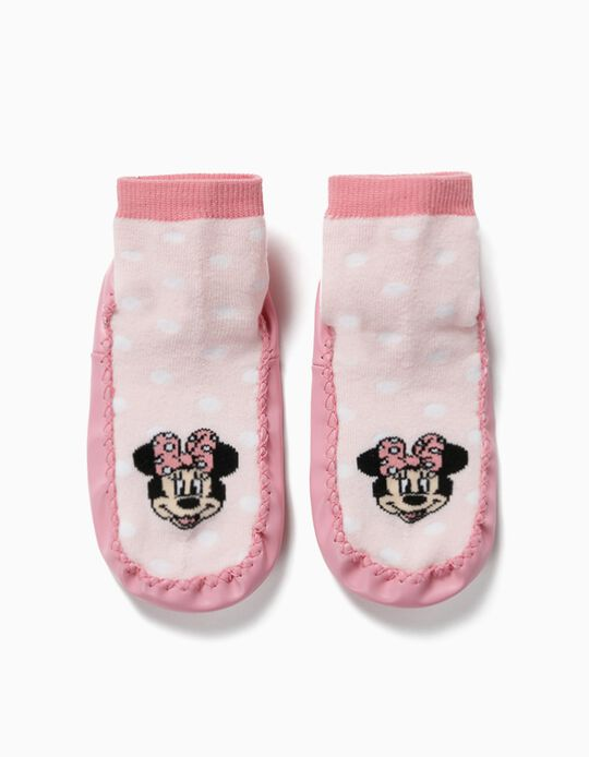 Non-slip Slipper Socks for Girls, 'Minnie Mouse', Pink