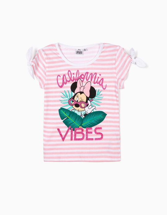 T-shirt ás Riscas Minnie Mouse