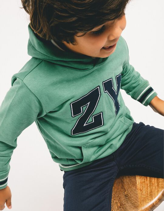 Hoodie for Boys 'ZY', Green