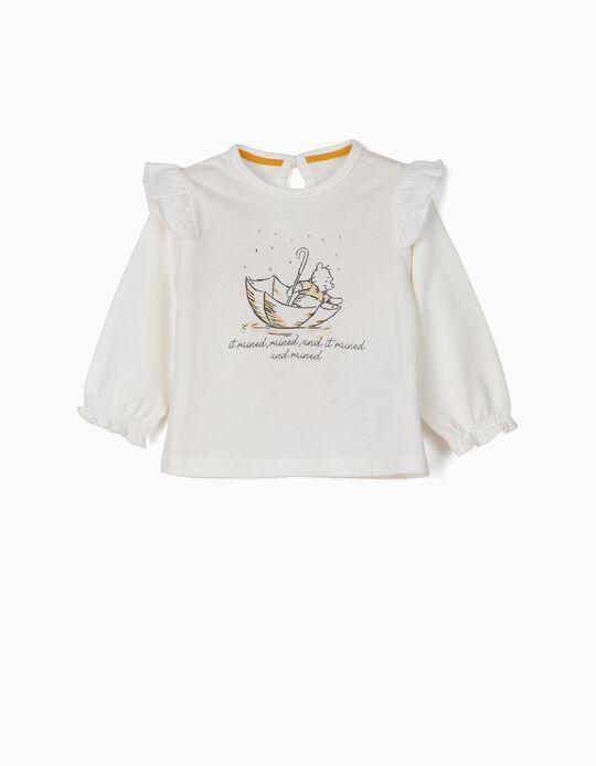 T-shirt Manga Comprida Winnie The Pooh Branca
