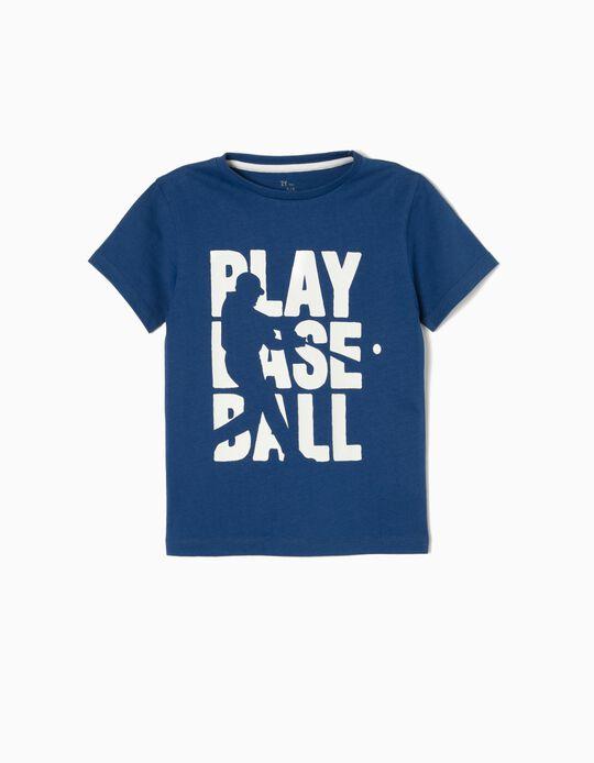 T-sirt Baseball Azul