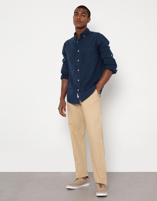 Linen and Cotton Trousers, Men